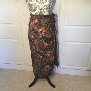 Fabulous batik sarong wrap shawl dress skirt OSFA